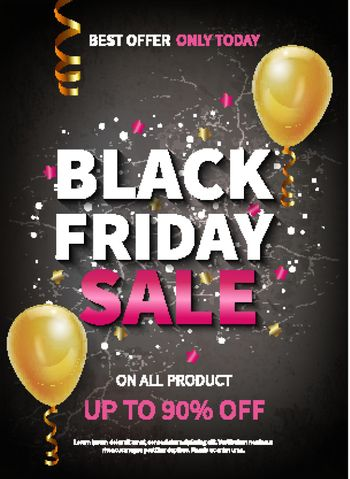 Realistic Black Friday Poster