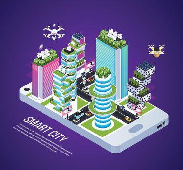 Smart City Isometric Composition