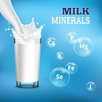 Milk Realistic Advertising