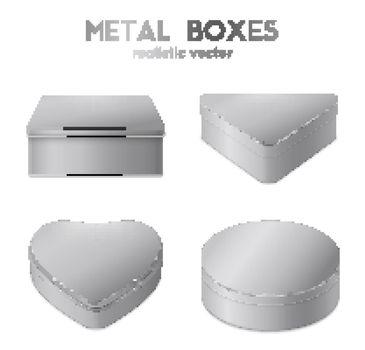 Realistic 4 Metal Boxes Set