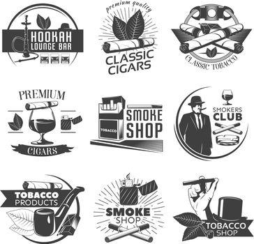 Smoking Tobacco Label Set