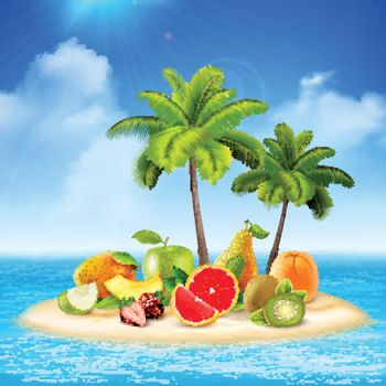 Fruity Island Background Concept