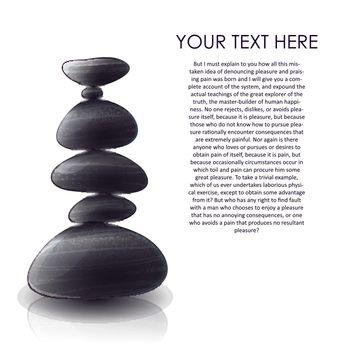 Pyramid Of Stones Design