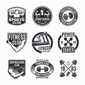 Power Fitness Logo Set