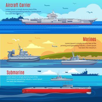 Military Fleet Horizontal Banners