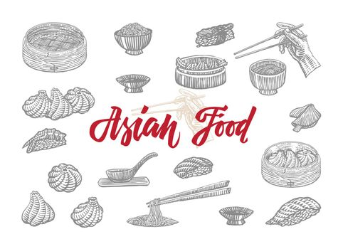 Sketch Asian Food Collection