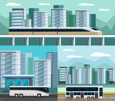Public Transportation Orthogonal Compositions Set