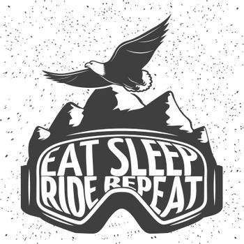 Snowboarding Mask Emblem