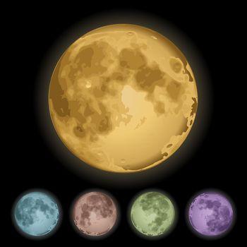 Isolated full moon