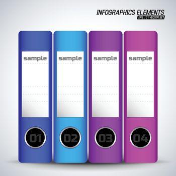 Document Folders Infographics Elements