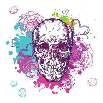 Skull Cow Boho Composition