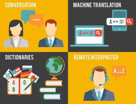 Foreign Language Translation Concept Graphics