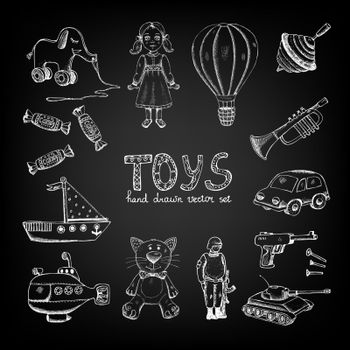 Chalkboard cartoon toys