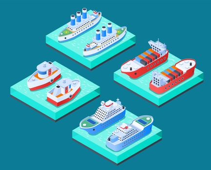 Ships Isometric Design Concept