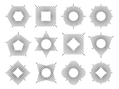 Line monogram frame set