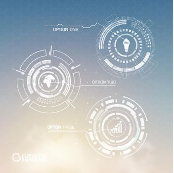 Digital Virtual Infographic Template