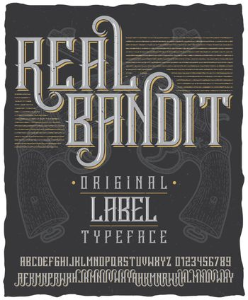 Real Bandit Typeface Poster