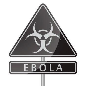 Ebola Danger Black Poster