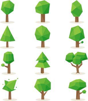 Polygonal trees