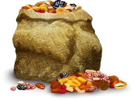 Dried Fruits In Sack