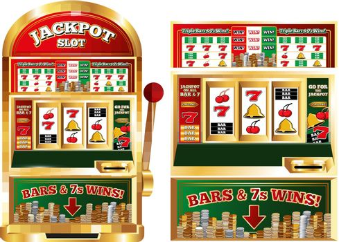 Gambling Slot Machine Composition