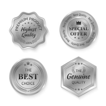 Silver Metal Badges