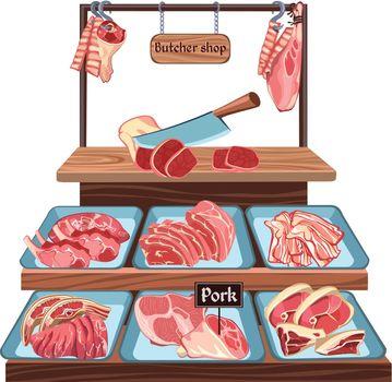 Sketch Butcher Shop Concept