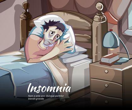 Sleepless vector character
