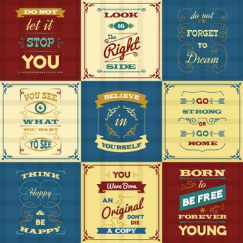 Slogan Typography Posters
