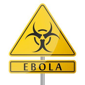 Ebola Danger Yellow Poster