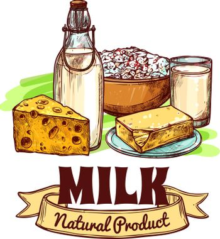 Milk Product Sketch Concept