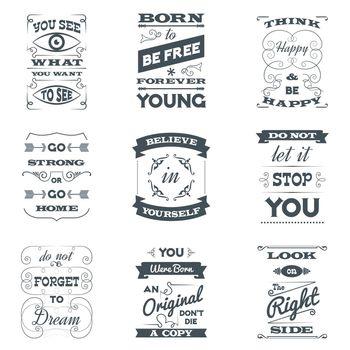 Quotes Typography Set