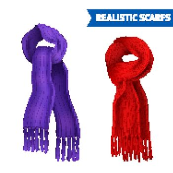 Knitted Scarf Image Set
