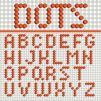 Dots Font Poster