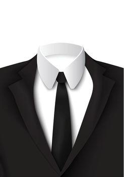 Realistic Black Suit Object