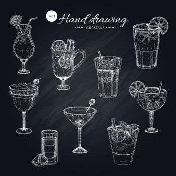 Cocktails Hand Drawn Collection
