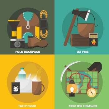 Camping Colored Compositions