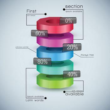 Realistic 3d Business Diagram
