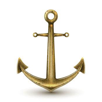 Golden Realistic Anchor