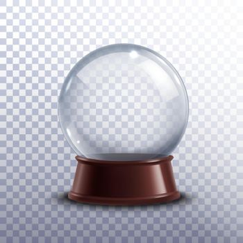 Snow globe transparent
