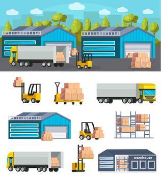 Warehouse Logistics Concept