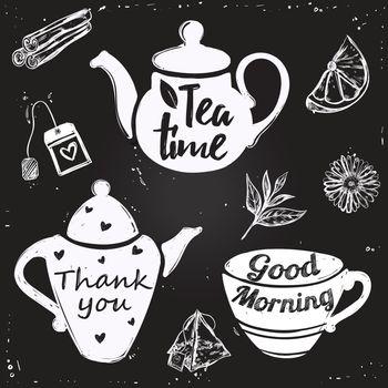 Tea Cup Lettering
