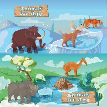 Beasts Ice Age Horizontal Banners