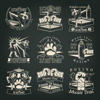 Dark Muay Thai Emblems