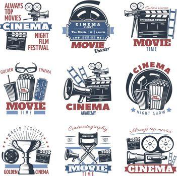 Cinema Emblems In Color