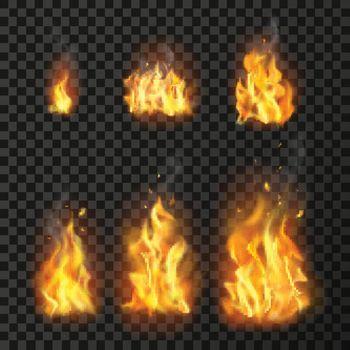 Realistic Fire Flames Set
