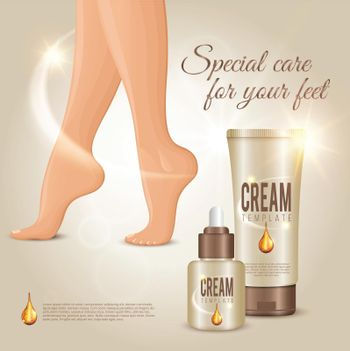 Special Care For Feet Concept