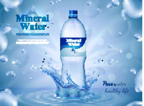 Mineral Water Advertising Composition
