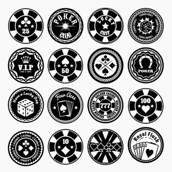 Poker club and casino black labels