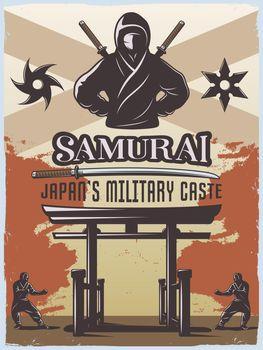 Samurai Military Poster